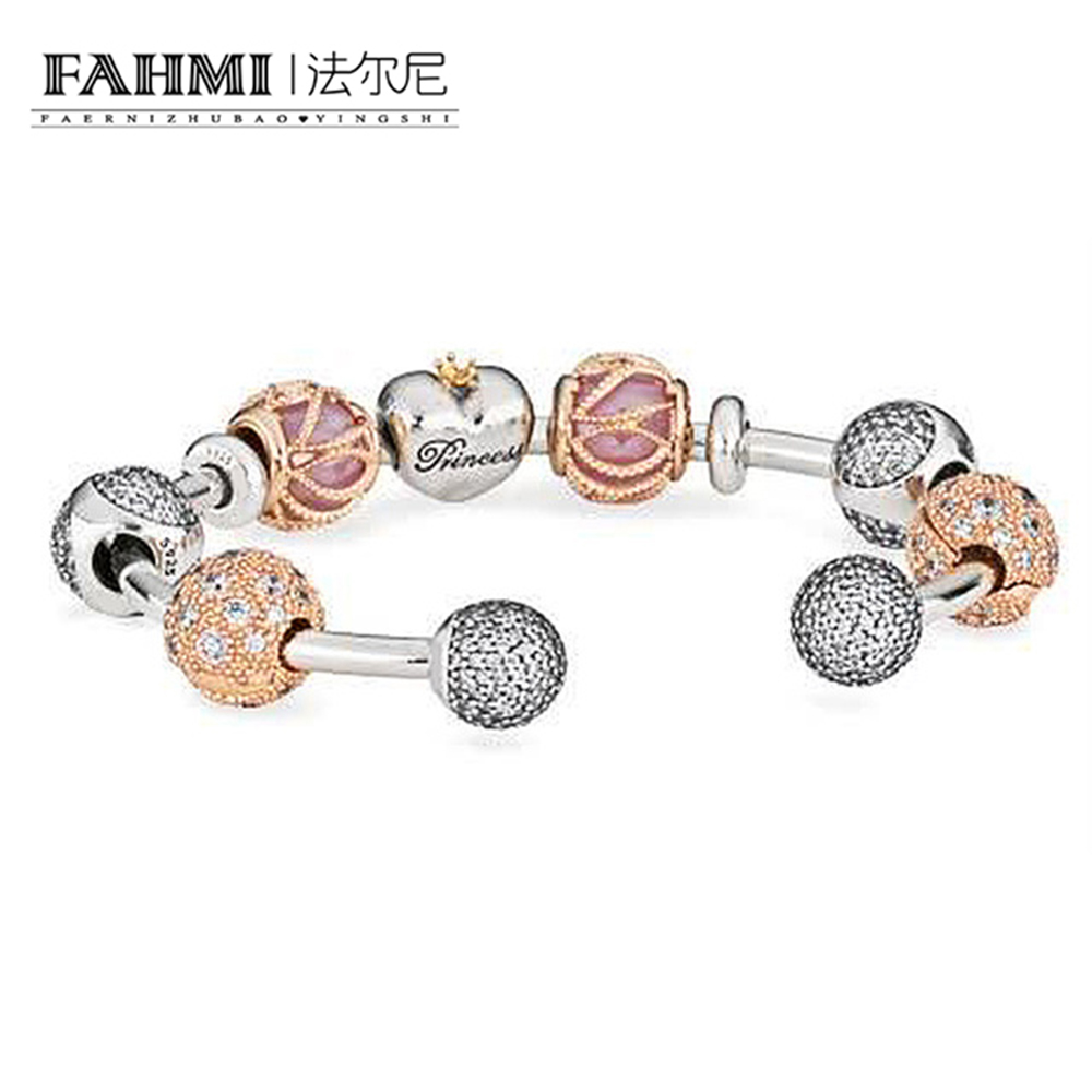 FAHMI 100% Authentic 925 Sterling Silver Holiday Style Charm Bangle & Bracelet For Women Luxury Jewelry Lover GiftFAHMI 100% Authentic 925 Sterling Silver Holiday Style Charm Bangle & Bracelet For Women Luxury Jewelry Lover Gift