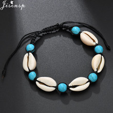 Jisensp Vintage Bohemian Seashell Bead Rope Chain Bracelet Simple Beach Shell Bracelet Jewelry for Woman Girls Birthday Gifts(China)