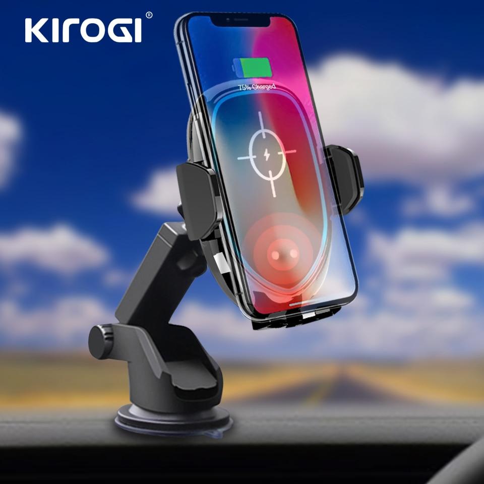 Handys & Telekommunikation Kirogi Qi Auto Drahtlose Ladegerät Für Iphone Xs Max Xr X Samsung S10 S9 Intelligente Infrarot Schnelle Wirless Lade Auto Telefon Halter