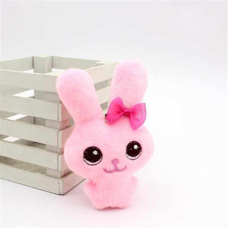 """1 шт. милые плюшевые галстук-бабочка, игрушки """"Кролик"""" Маленькая кукла-подвеска креативный мини мягкие сиамские игрушка Косметика куклы для детей подарки на высоком каблуке 12 см"""