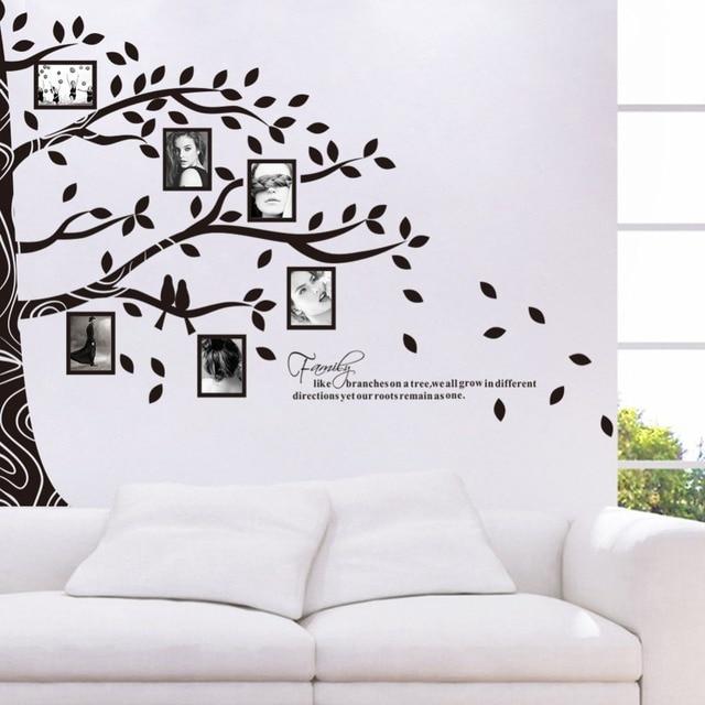 Grande 257 * 200 CM DIY Photo Frame Tree con inglés carta PVC ...