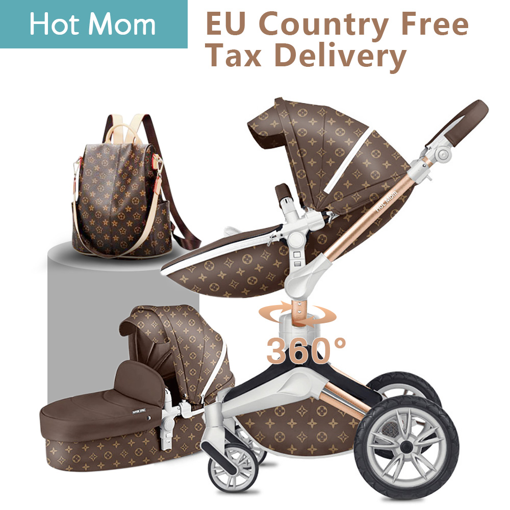 free shipping Original Hot Mom 2 in 1 Luxury Baby Stroller 360 degree High Landscape Baby Pram Light folding Newborn carriagefree shipping Original Hot Mom 2 in 1 Luxury Baby Stroller 360 degree High Landscape Baby Pram Light folding Newborn carriage