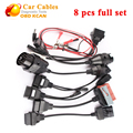 8pcs CDP Car Cables OBD 2 Connector Cables Full Set tcs cdp Car Diagnostic Cables 8 pcs full set cdp cables fast shipping