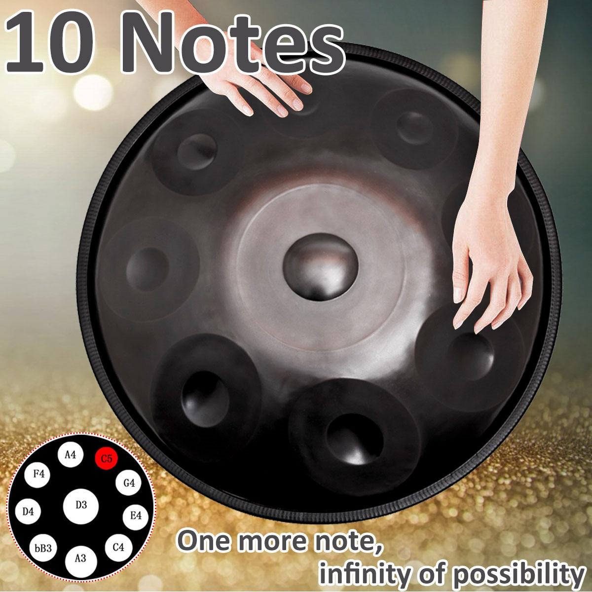 10 Notes professionnel fait main Handpan tambours Antique F majeur D mineur main tambour musique main pan tambours Percussion Instrument de musique