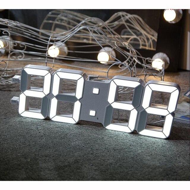 3d led digital wanduhr mit licht sensor automatisch dimmen gro en ziffern hoch sichtbar f r gym. Black Bedroom Furniture Sets. Home Design Ideas