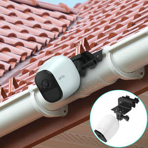 Gutter-Mount-Bracket Arlo-Camera Adjustable for Pro Hd/pro Outdoor-Security Surveillance