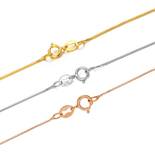 Gorgeous Solid Au750 18K Yellow White Rose Gold Chain Women Box Link Necklace 16inch 18inch