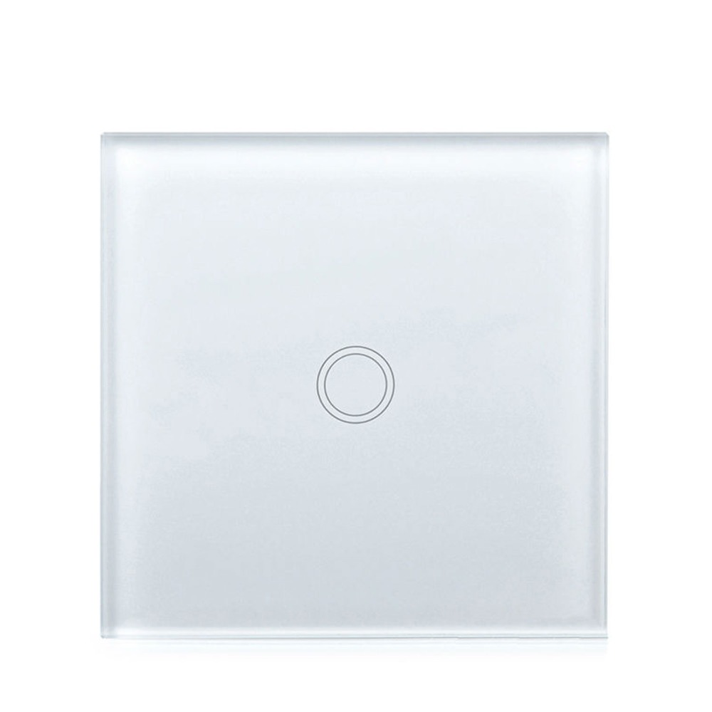 Wall Mounted Light Switch 1 Gang 1 Way Crystal Panel Wall Switch Glass Wall Switch Touch Switch 220V EU/UK For Smart Home ewelink eu uk standard light touch switch crystal glass panel 3 gang 1 way wall light touch screen switch for smart home