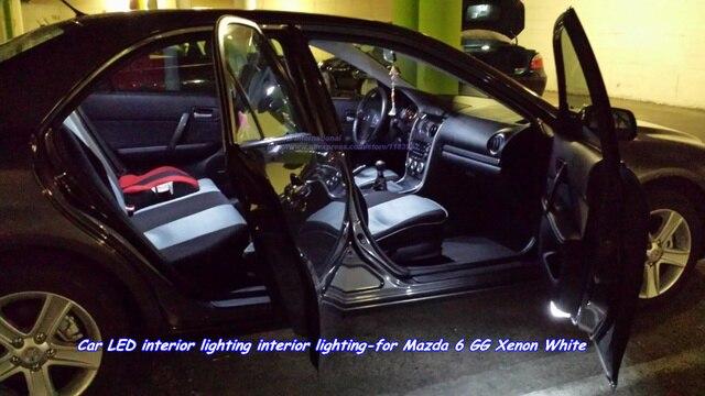 car canbus w5w led interior lights kit white for mazda 6 ggfrontrear
