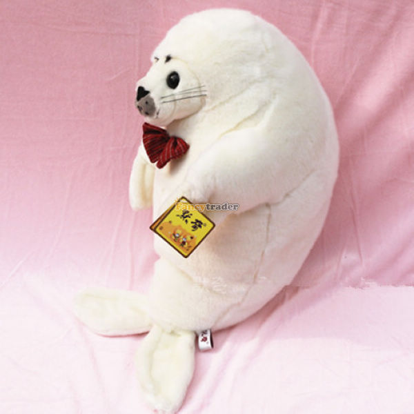 Fancytrader 2015 Novelty Toy! 24'' / 61cm Giant Soft Stuffed Lovely Plush Seal Toy, Nice Gift For Kids, Free Shipping FT50541 fancytrader 39 100cm giant plush soft lovely stuffed cartoon monkey toy cute birthday gift free shipping ft50006