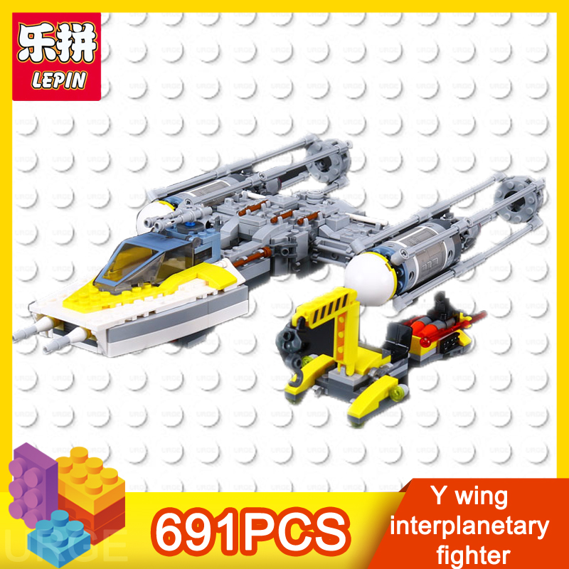 lepin star wars figure Y wing interplanetary fighter 691pcs bricks educational building blocks toysfor children Christmas gift wisehawk nano star wars yoda building blocks big size characters figure educational toys diy assembly micro brick christmas gift