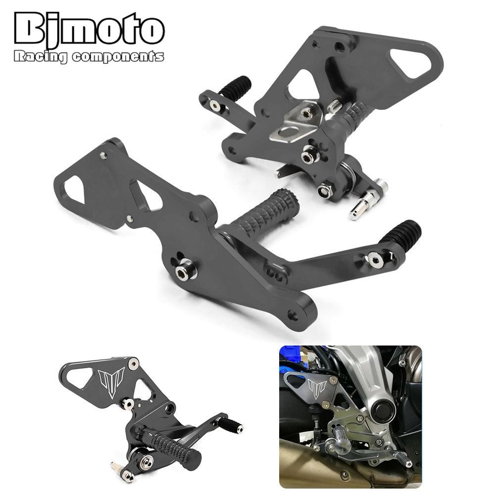 ARS-MT07B Motorcycle CNC Racing Adjustable Rearset mt-07 Rear Sets Footrest Foot Set For Yamaha FZ07 /MT07 2014-2017 550t001m1r3e0l d sub backshells split bkshll top rear mt str mr li