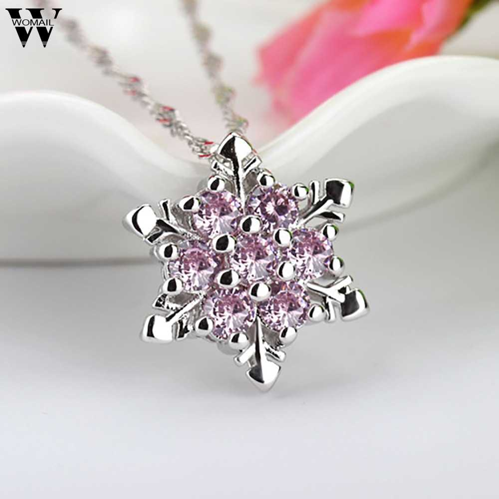 c5082a4532 Natural 1PC Chic Snowflake Pendant Rhinestone Obsidian Rainbow Transfer  Good Luck Bead Pendant Necklace Elegant Necklace