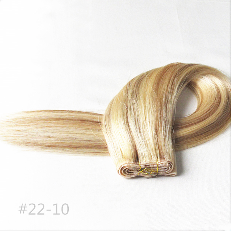 Aliexpress buy 100 european remy human hair extensions un aliexpress buy 100 european remy human hair extensions un tape hair hand tied pu skin weft 613 blonde piano hair silky straight 19inch 50g from pmusecretfo Images