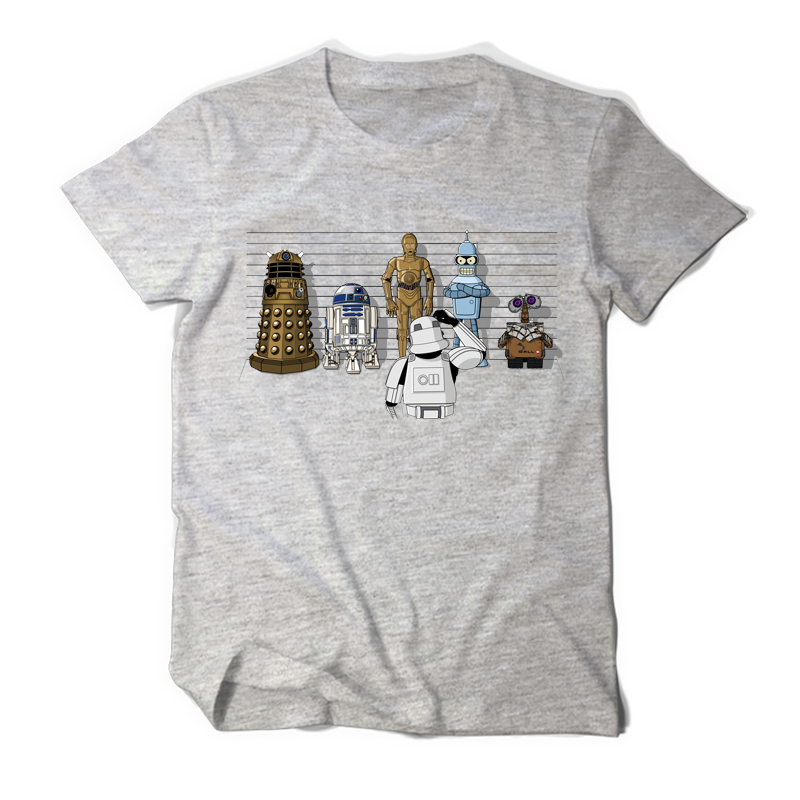 100% Cotton Short Sleeve Star Wars T Shirt Doctor Who Robort Print Cool Funny Men Darth Vader T-shirt Casual O-neck Mens Tees