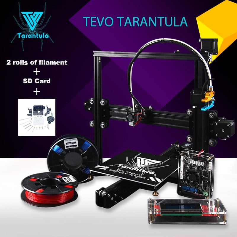 3D Printer Diy Tevo Tarantula Reprap 3D Printer Aluminium Extrusion 3D Printer Kit 2 Rolls Filament