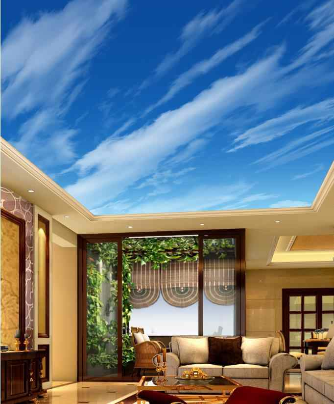 customize 3D ceiling wallpaper Living room bedroom 3d Blue Sky and White Clouds 3D ceiling wallpaper.jpg q50