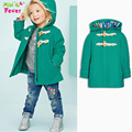 2016 new spring coat girls Solid color Cinderella Amago jacket&outerwear baby girl hoodie winter jacket for girls fast ship