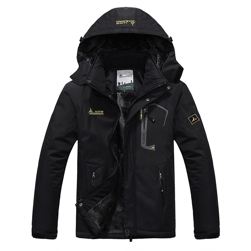 Hot Sale Men Brand Windproof Hood Parka Coats Winter Warm Outwear Men Large Size Jacket Plus velvet Coat L-6XL
