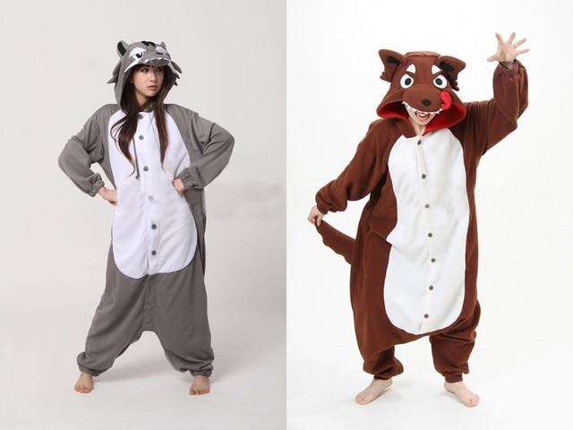 62518b7b00 NEW Polar Fleece Fashion Wolf Animal Pajamas Pyjamas Party Costume Onesies  Animal casual for Adult One Piece Anime Sleepwear