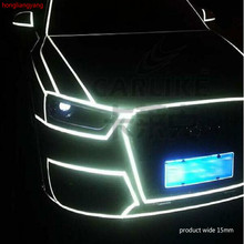 diy Reflective universal SUV sedan Hatchback pvc car stickers waterproof sticker for whole body 45m/lot