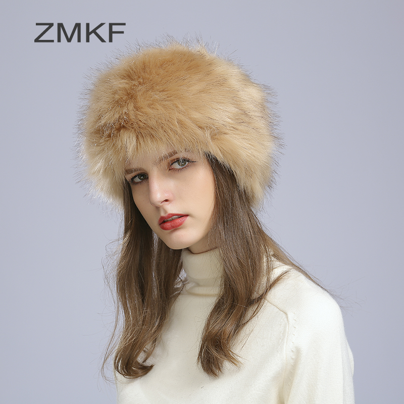 2017 Zmkf New Fur Hats For Women Natural Mink Fur Pattern Winter