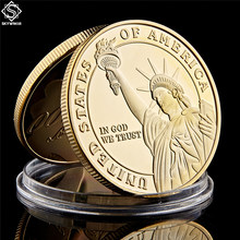 Unites States Of America 999/1000 Gold Medal Of Honor In God We Trust Liberty Challenge Coins