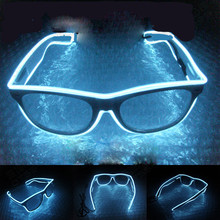 лучшая цена Attractive Sound Activated EL wire Led Glasses Lighting Colorful Glowing Glasses Luminous glasses For Party Decoration Gifts