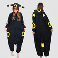 Umbreon Pajamas For Women Adult Anime Pokemon Umbreon Cosplay Costumes Winter Cartoon kigurumi Animal Pajamas Carnival Party