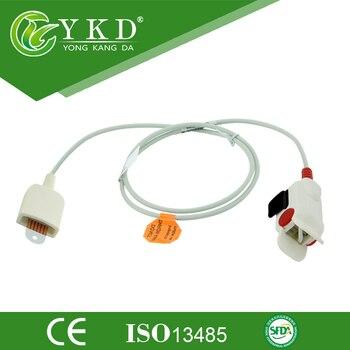 2 pcs/lot Hot Sale Reusable Short Pediatric Finger Clip SpO2 Sensor 6 Pin with CE approved