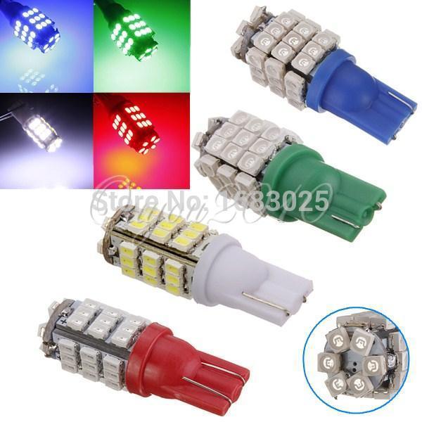 Большая Акция 2x T10 42 LED 1206 SMD W5W 194 168 авто клина стороны Хвост Парковка включить свет лампы лампы синий и красный цвета зеленый, белый