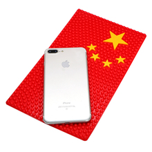 26*15.5cm Car Sticky Anti Slip Mat Auto Interior Accessories China UK US Germany Flag Non-Slip Pad for Phone GPS Coin Key Holder
