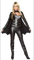 Hot Sale High Quality Beautiful Sexy Bat Woman Costume 3S1258 +Free shipping Sexy carnival costume