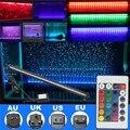 46 cm IP68 RGB CONDUZIU a Luz do Tubo da Lâmpada 5 W Bolha Do Tanque de Peixes aquário Da Lâmpada de Iluminação 27 SMD Faixa de Luz Submersível com Controle Remoto