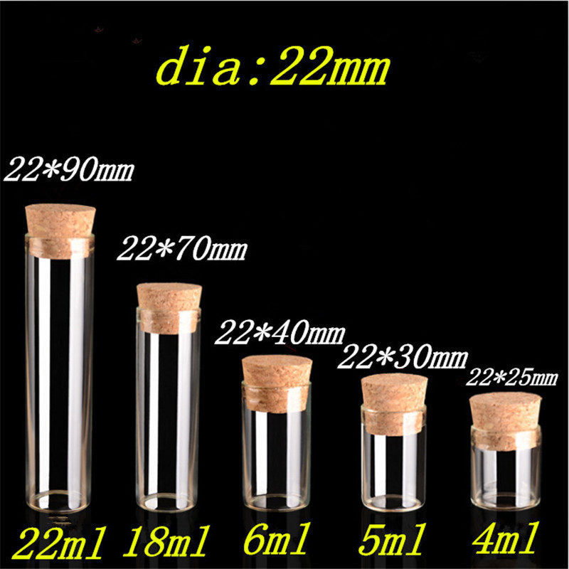 Mini Glass Jars with Corks 4ml 5ml 6ml 18ml 22ml Bottles Jars Containers for Sand Liquid