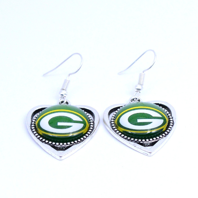 Earrings Green Bay Packers Charms Dangle Sport Football Jewelry For Women Birthday Party Gift 5 Pairs