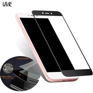 UVR для Xiaomi 6 5X Max Mix 2 5C 5S Note 3 углеродное волокно мягкий край 3D полное покрытие закаленное стекло Redmi Note 5A защита для экрана