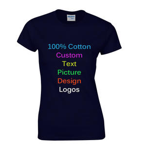 Team Company Slim Custom Female Women T-shirts Customized Logo Text Photo Printed Girl Tees Cotton DIY advertising Top T shirt