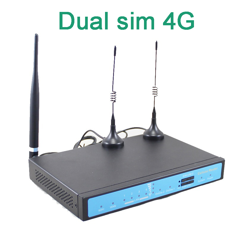 Free Shipping by courier YF360D Series LTE FDD TDD industrial dual sim 4G router for M2M