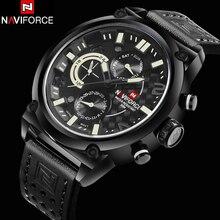 Nuevo Lujo Hombres Superiores de la Marca Relojes Militares Correa de Cuero Cuarzo de Los Hombres 6 Dial Reloj de Hombre de Pulsera Deportivo Reloj Del Relogio Masculino