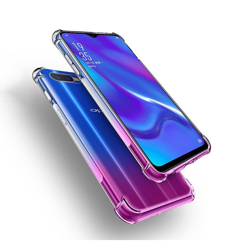 For Oppo F9/F9 Pro Anti Knock Shockproof Soft Clear Cover For Oppo A7 K1  R15x RX17 Neo Transparent TPU Silicone Skin Bag Case