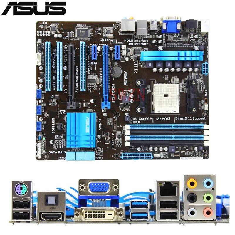 все цены на  original Used Desktop motherboard For ASUS F1A55-V A55 support Socket FM1 4*DDR3 support 16G 6*SATA2 ATX  онлайн