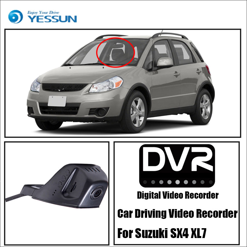 YESSUN For Suzuki SX4 / DVR Driving Video Recorder Car Front Dash Camera CAM - For iPhone Android APP Control Black Box Function yessun for iphone android app car front dash camera cam for jeep wrangle dvr driving video recorder control black box functi