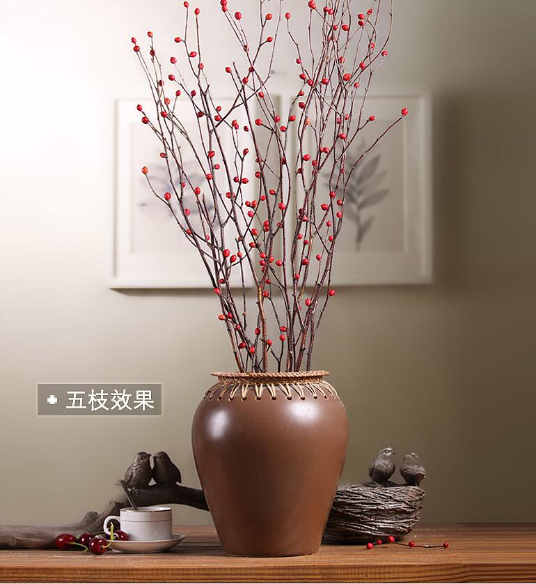 5pcs acacia tree branches decorative flower arranging simulation flower stems adornment branch flower sitting room home decor in artificial dried flowers - Branch Flower Arrangements