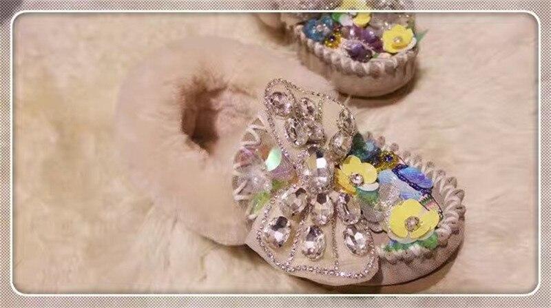 Main Femme De Chaud Cristal Mode Sur Des Pour L'hiver Chaussures Cheville Bottes Okhotcn Glissement Femmes Neige Étanche Appartements Bowtie TK3cJF1l