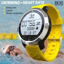 Плавание Спорт Smart Heart Rate Monitor Watch Шагомер Сна Сидячий Вызов Напоминание Smartwatches Bluetooth Цифровые Часы Ios