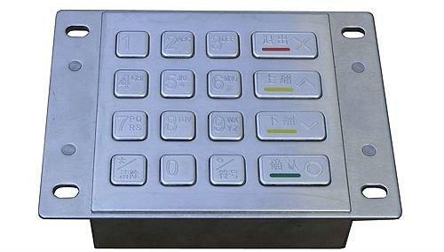 IP65 vandal proof industrial stainless steel numeric keypad(X-KN161B)