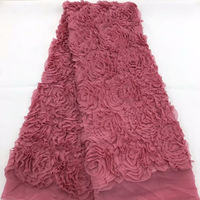 FolaSade 2019 Latest Nigerian 3D Rose Wedding Lace High Quality African Nigerian Lace Fabric 5yards/lot TY931