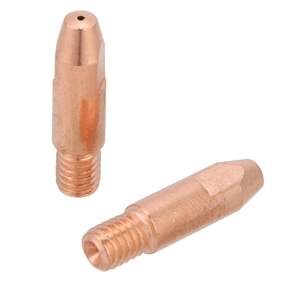 20Pcs Copper Contact Tip M6 for Binzel 24KD MIG//MAG Welding Torch 0.8//1.0//1.2mm 1.0 Copper Contact Tip