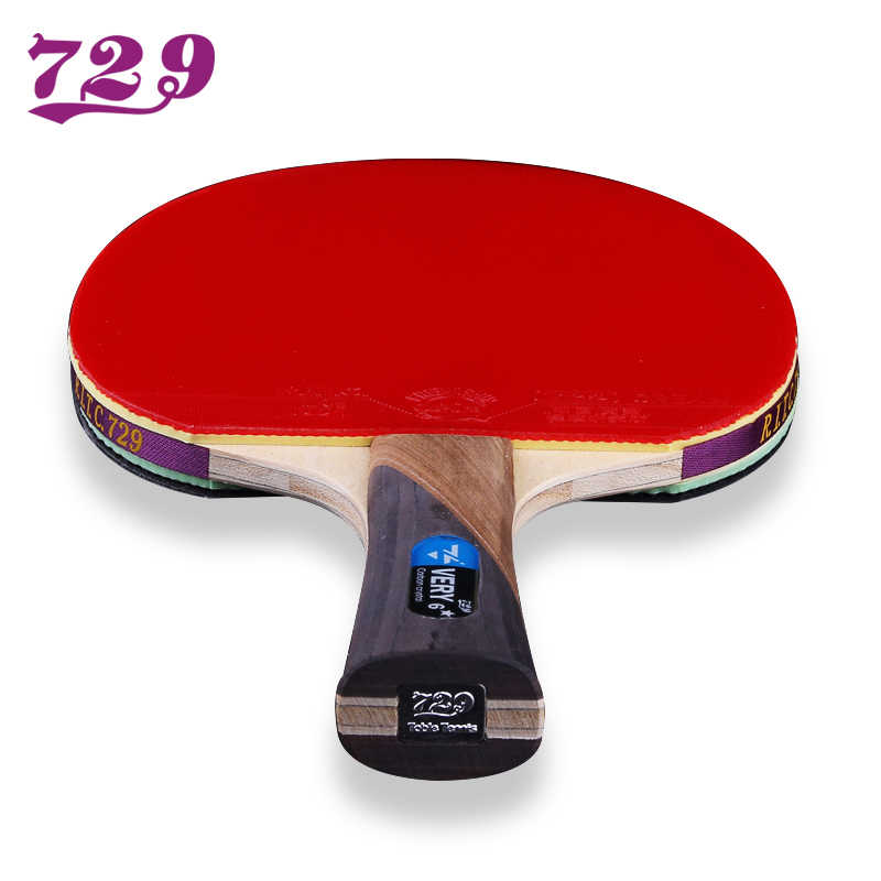Friendship 729 Very-7 Stars Table Tennis Racket Blade With Double Face Pimples-in Racket Rubber Original Ping Pong bat with bag